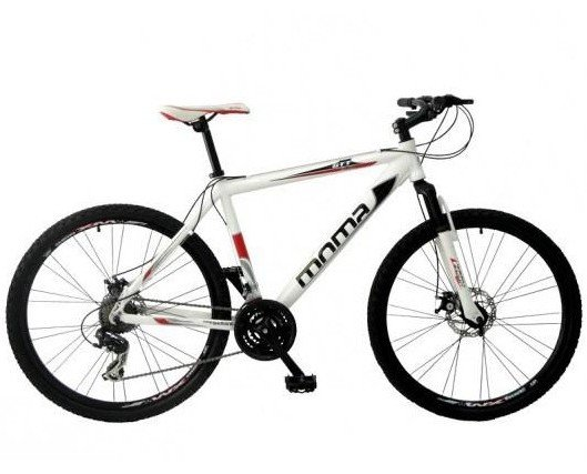 Bicicletas de Montaña.Bicicleta de montaña en blanco