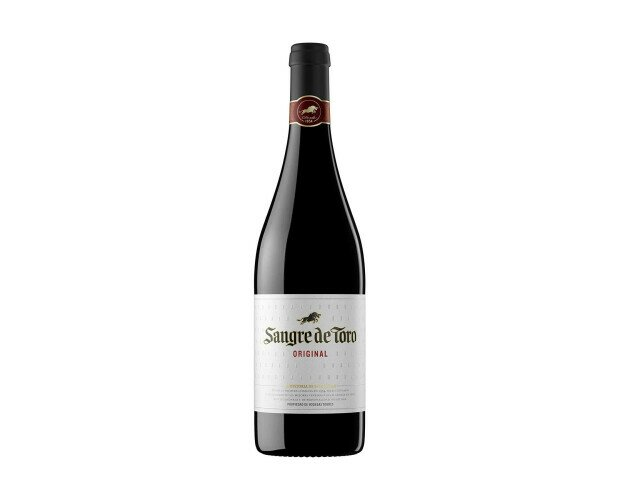 Vino Sangre de Toro. Elaborado con una rica mezcla de variedades de uva syrah, mazuelo y garnacha