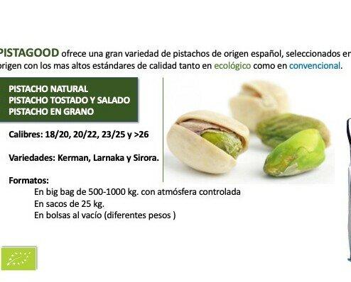 Frutos Secos Ecológicos.Oferta de pistacho ecológico y convencional.
