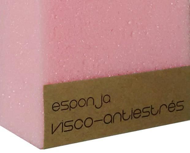Visco - exfoliante. Esponja 100% visco-antiestrés ideal para exfoliación