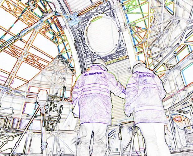 Modelos Digitales y 3D.Escaneo Láser Telescopio Solar
