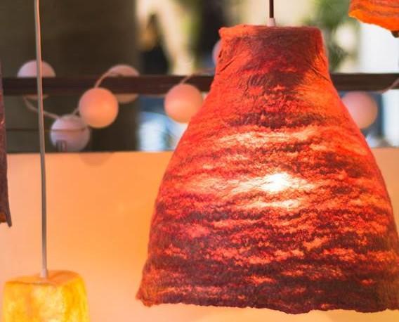 Lámparas de fieltro. Lámparas de fieltro artesanal