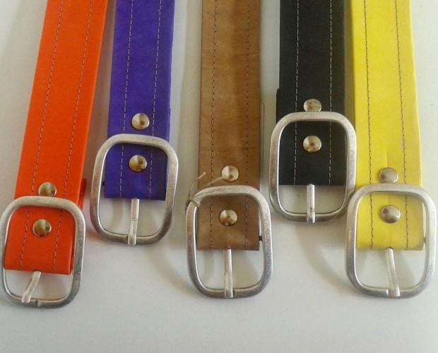 Cinturones.Cinturones de fibra de celulosa lavable