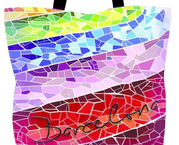 Diseño Gráfico.Diseño de bolsa de playa a la venta en La Rambla
