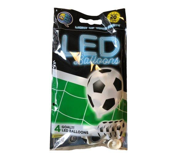 Globos led blancos. Colección temática futbol