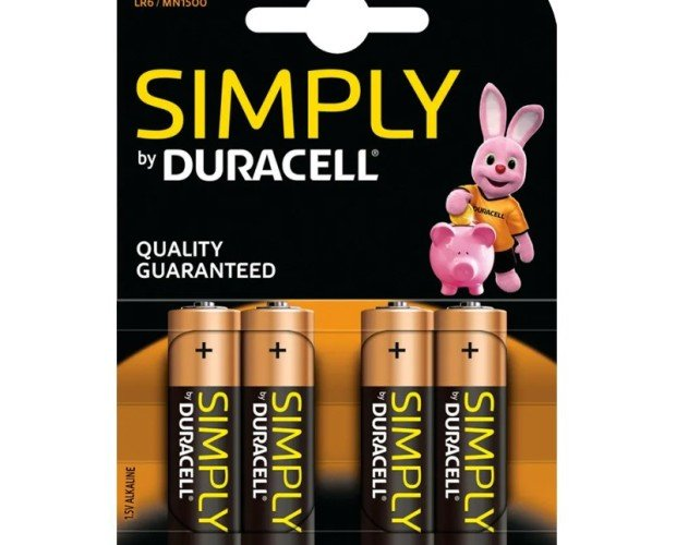 Pila AA. Pack 4 unidades Duracell