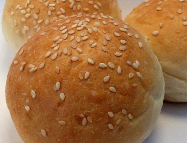 Proveedores de panadería. Pan de Hamburguesa en diferentes colores