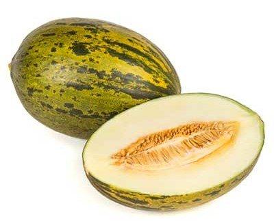 Melones.Pieza completa de melón
