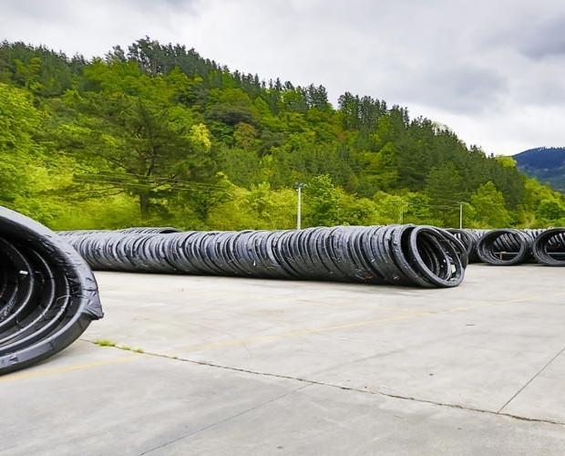 tubos grandes. tubos de polietileno