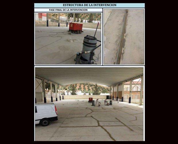 Pavimentación.Preparacion soporte pista deportiva