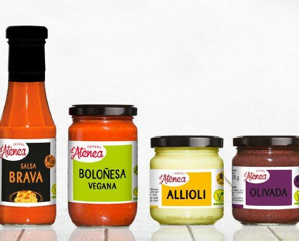 Salsas Olivera d'Atenea. Gama de salsas Olivera d'Atenea
