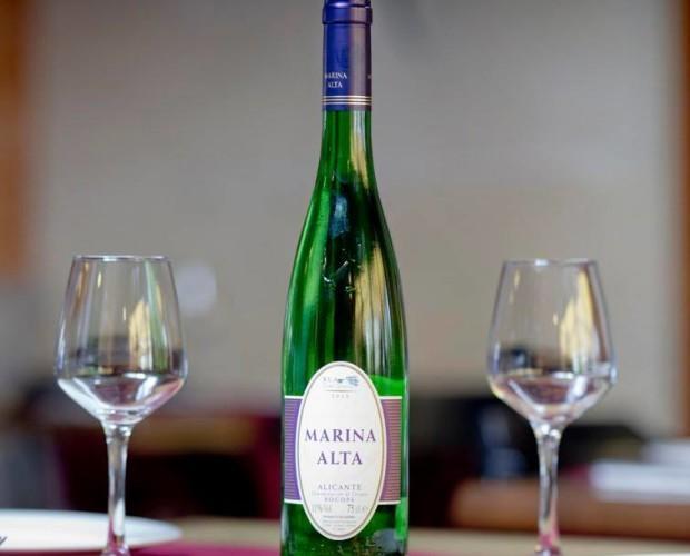 Blanco del mediterráneo. Nace de una especial variedad de uva Moscatel de Alejandría