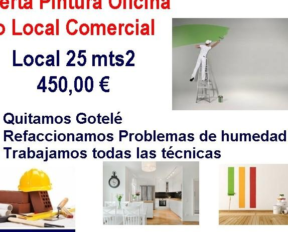 Pintura para negocio. Oferta para locales comerciales y oficinas