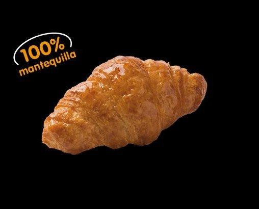 Mini croissant. Croissant París de mantequilla