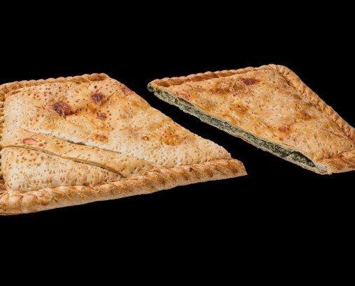 Media plancha. De queso y espinacas