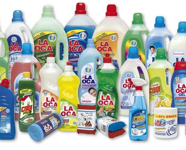 Gama doméstica. Productos de limpieza de la gama doméstica