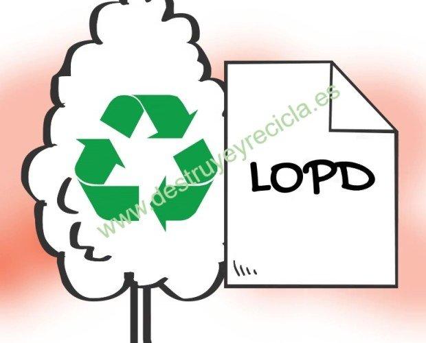 Destrucción de Documentos.CERTIFICADO de destrucción válido para el cumplimiento de la LOPD y RGPD