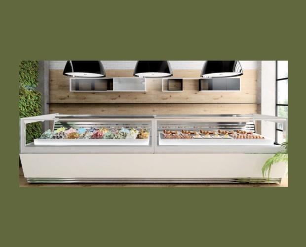 Vitrinas para Heladerías.Vitrina helado modelo Sirius de Italproget