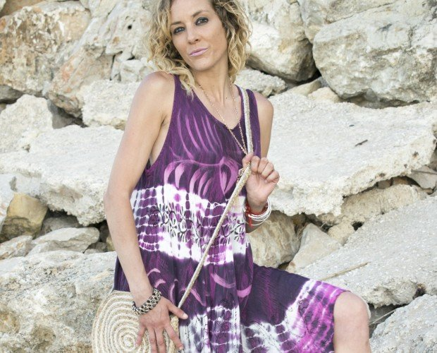 Vestido Hippie. Vestido de Playa con estampado etnico hppie chic