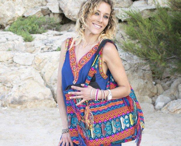 Vestido y Bolso. Vestido y bolso hippie chic