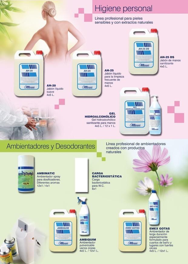 Desodorizaciòn. Higiene personal. Ambientadores y desodorizantes.