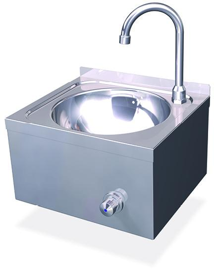 Lavamanos Pulsador. Lavamanos Acero Inox. Pulsador de Rodilla. Agua Fria