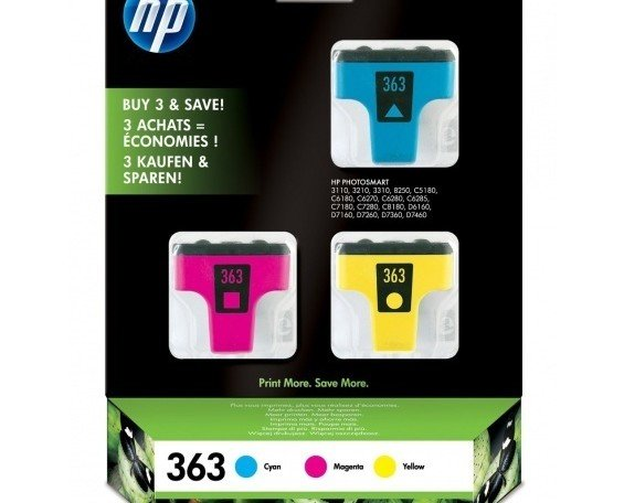 Tinta Original HP. Paquete de tres