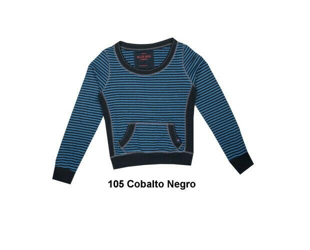 Camiseta Canguro. Confeccionada con nuestro punto listado, tiene un bolsillo tipo canguro