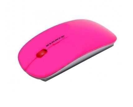 Ratón KL-Tech. Ratón Slim USB de color Rosa Florescente con interfaz USB 2.0