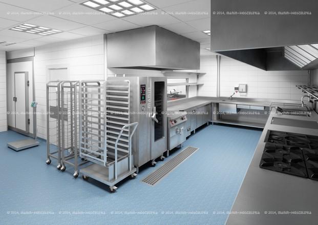 Diseño 3D cocina. Diseño 3D y realización de cocina industrial.