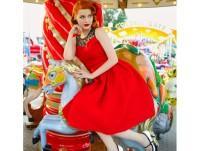 Vestido Pin-up rojo