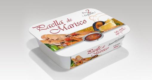 Alimentos Congelados. Paella de Marisco