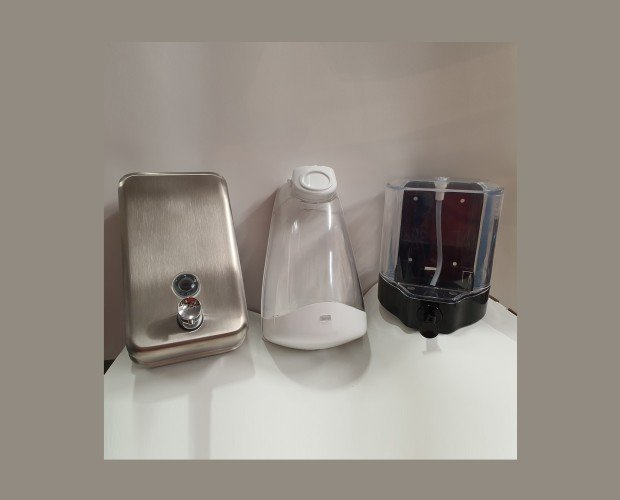 Dosificador de gel y jabón. Dosificador en diferentes materiales