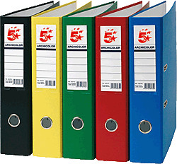 Material de Archivo.Archivadores en cartón, varios colores
