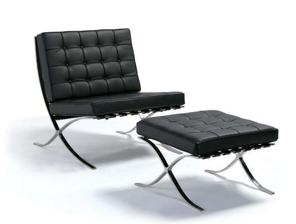 Silla y otomano. Variedad de diseños y modelos de muebles