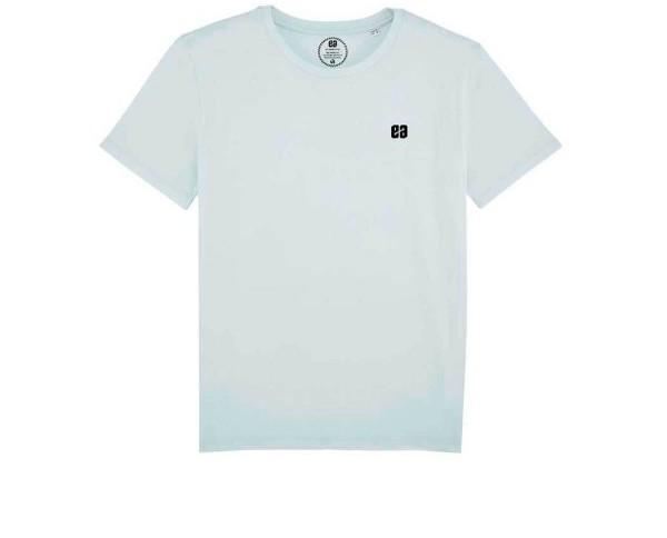 Camiseta Basic Blue. Camiseta de color azul celeste, uno de los tonos pastel que son tendencia para esta primavera/verano 2018