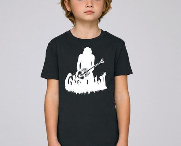 Camiseta Rock Talen. Camiseta para niño con un diseño de un rockero