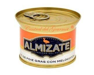 Foie gras con melocotón. 100% natural
