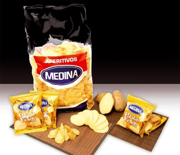 Aperitivos y snacks. Patatas fritas y snacks
