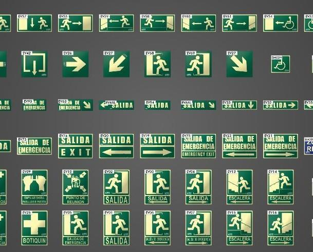 señalización. Suministramos elementos de señalización a empresas