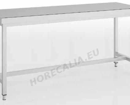 Mesa central sin estante soldada. Posibilidad de incorporar opcionalmente un estante intermedio adicional
