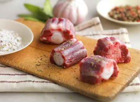 Carne de Ternera.Rabo troceado congelado