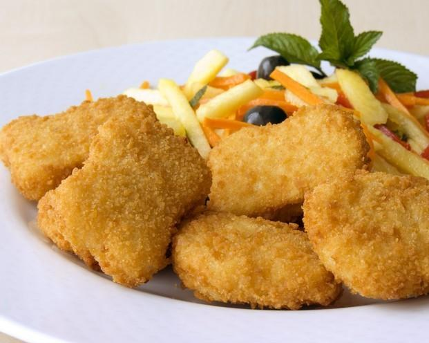 Nuggets de pollo. Nuggets de pollo congelados