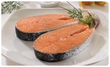 Salmón. Rodaja de Salmon