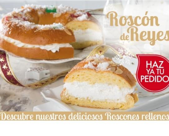 Roscones de Reyes.Roscón grande de 1.500kg relleno de nata de la marca Berlys. Somos distribuidores oficiales.