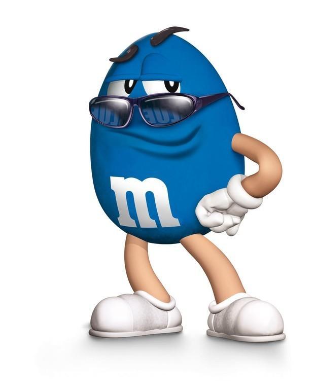 M&M Blue. Personajes de M&M
