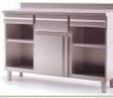 Mobiliario de acero inoxidable. Mueble Cafetero