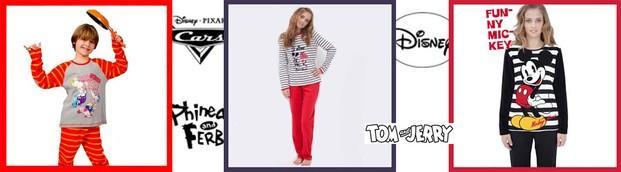 Pijamas Infantiles.Con personajes de Disney