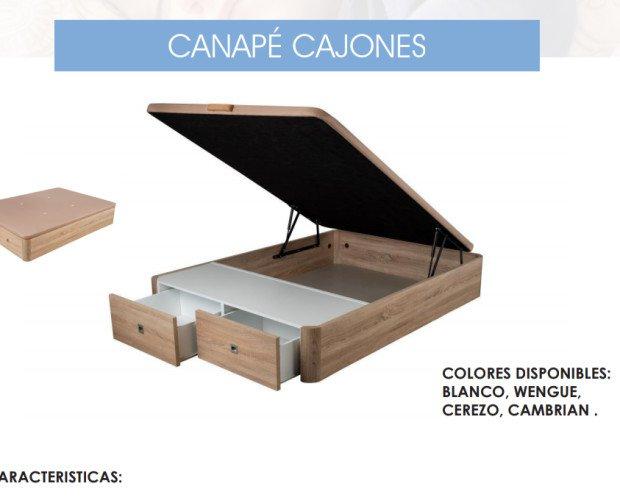 Canape Cajones. canapé