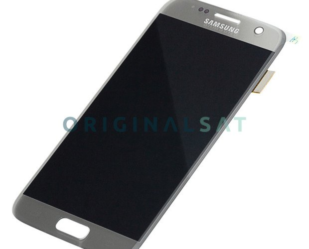 Pantalla Samsung S7. Recambio completo en color Plata
